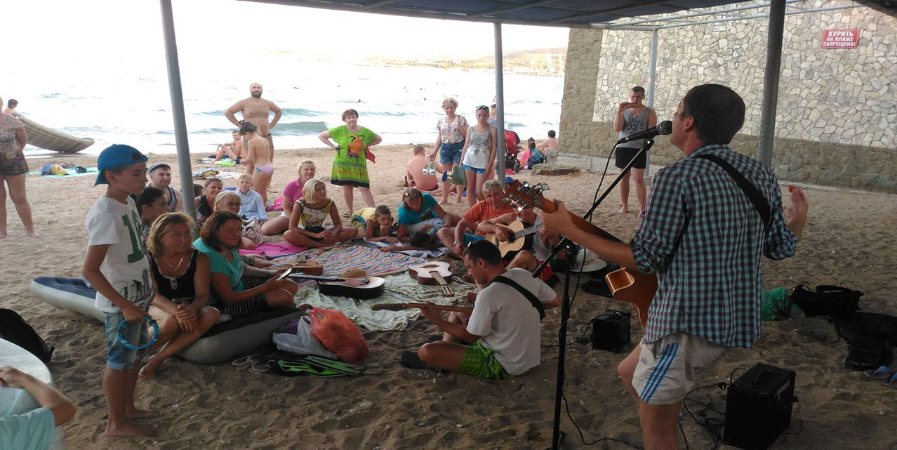 Арбузник и концерт на пляже_9
